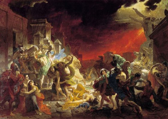Briullov (Bryullov), Karl: The Last Day of Pompeii. Fine Art Print/Poster. Sizes: A4/A3/A2/A1 (00597)